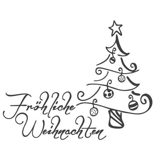 Stempel -Fröhliche Weihnachten-, 72 x 40 mm #feliznavidad