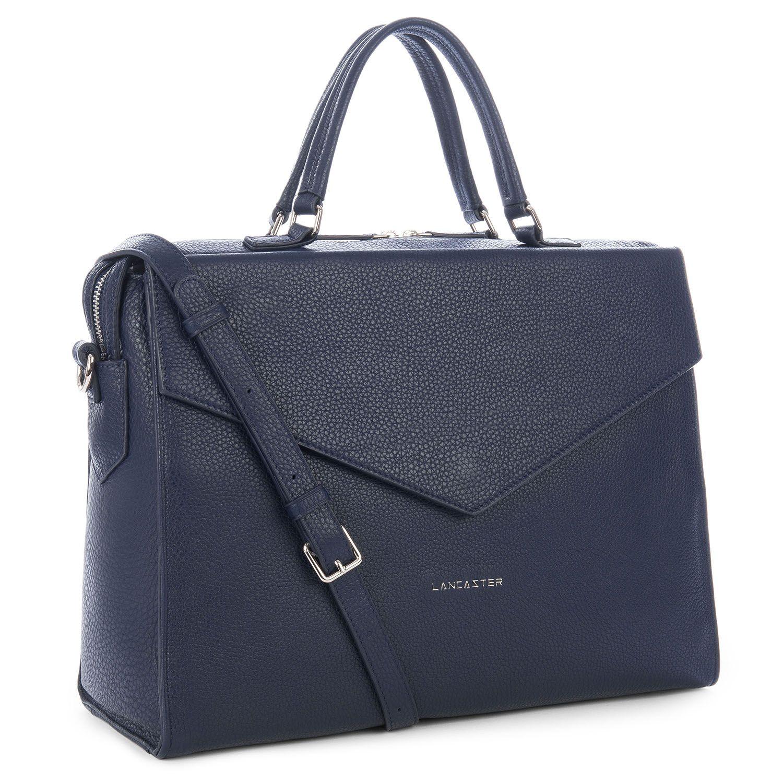 bag lancaster Dark britchic handbag briefcase Satchel leather Paris Lancaster bluemarine satchel Blue Tara lancasterparis 660qwv47