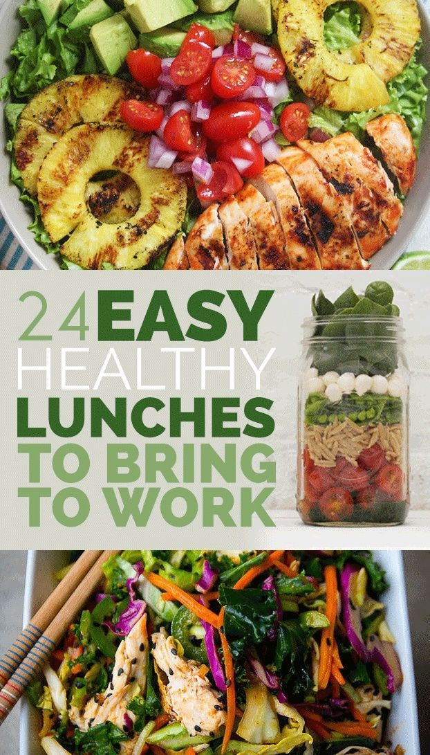 24 easy healthy lunches to bring to work recipes pinterest 24 easy healthy lunches to bring to work forumfinder Images