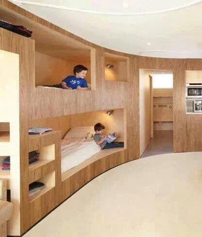 Tolle Bett-Idee für ein großes Kinderzimmer Kinderzimmer - moderne kinderzimmergestaltung idee
