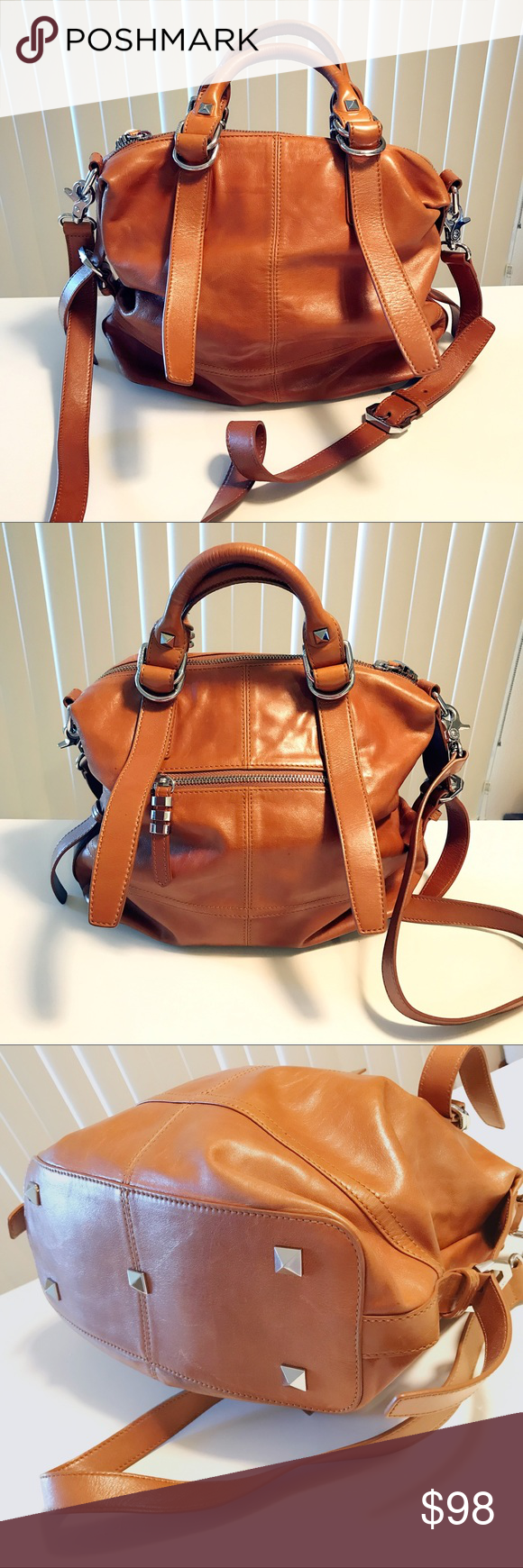 La pagayo Leather Satchel (Brown) Ideal for your daily commute, this satchel is designed to be slung over your shoulder with an adjustable shoulder strap. The top zip closure ensures all your everyday necessities stay in place, no matter how bumpy the road gets. La pagayo Bags Satchels