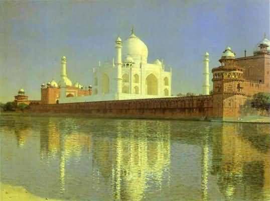 Vasily Vereshchagin Taj Mahal Mausoleum in Agra