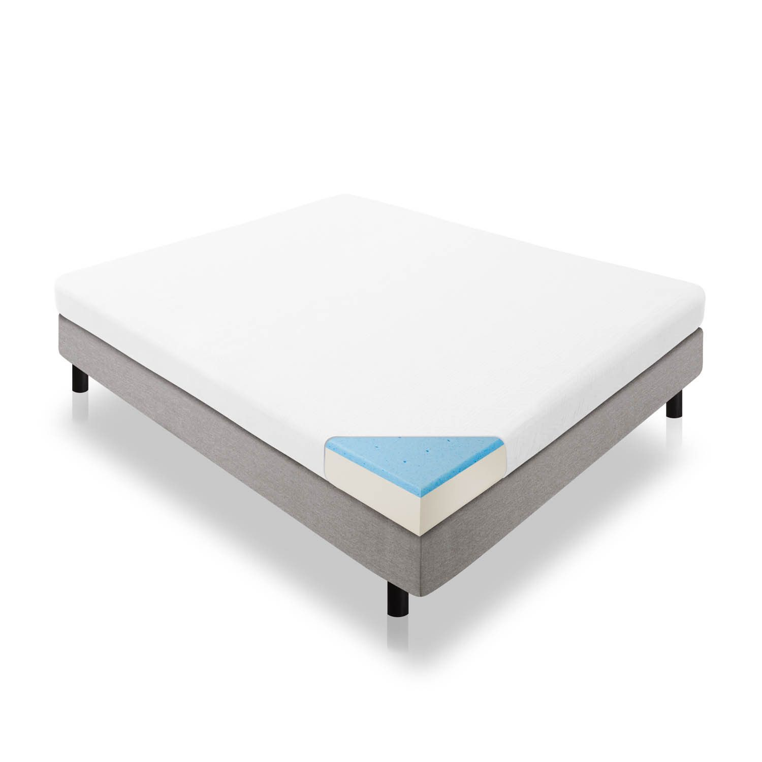 lucid dual layered 5 inch king size gel memory foam mattress