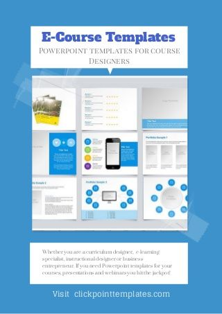 Powerpoint Automated Templates For E Learning Online Course