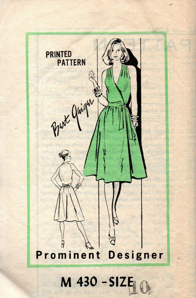 70s Mail Order Sewing Pattern M 430 Bert Geiger Wrap Dress