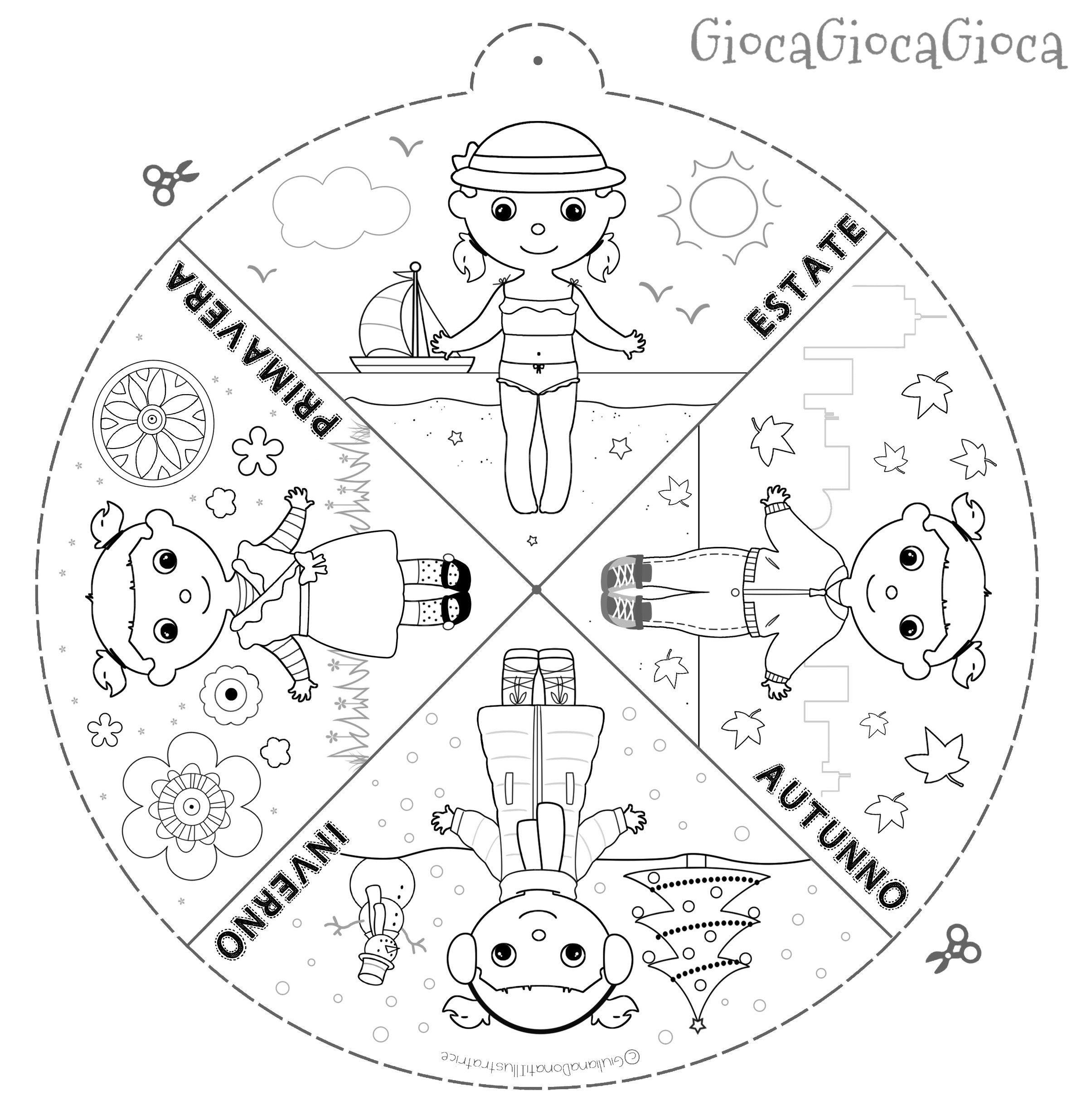 spesso La ruota delle stagioni su GiocaGiocaGioca! The wheel of seasons  XW61