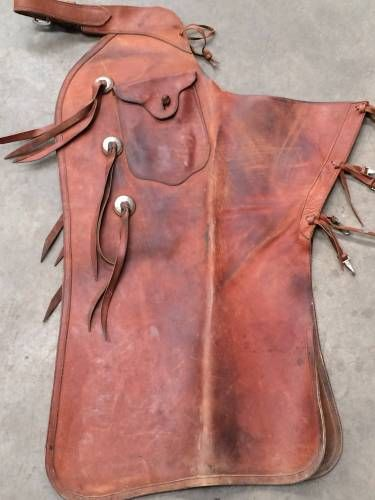 Chaps Rodeo Ranch Fancy Western sz Small Suede Leather Saddle Horse Chinks