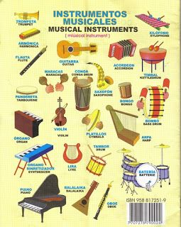 Instrumentos Musicales En Ingles Jpg 255 320 Musicals Vocabulary Musical Instruments