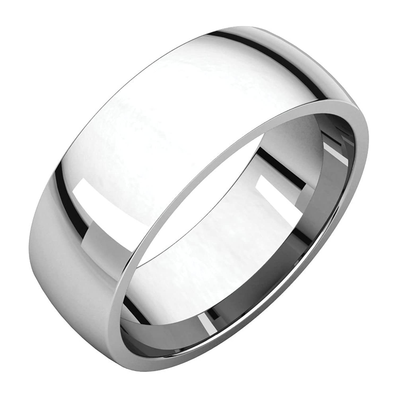 Size 12.5 Bonyak Jewelry 10k White Gold 3 mm Milgrain Comfort-Fit Band