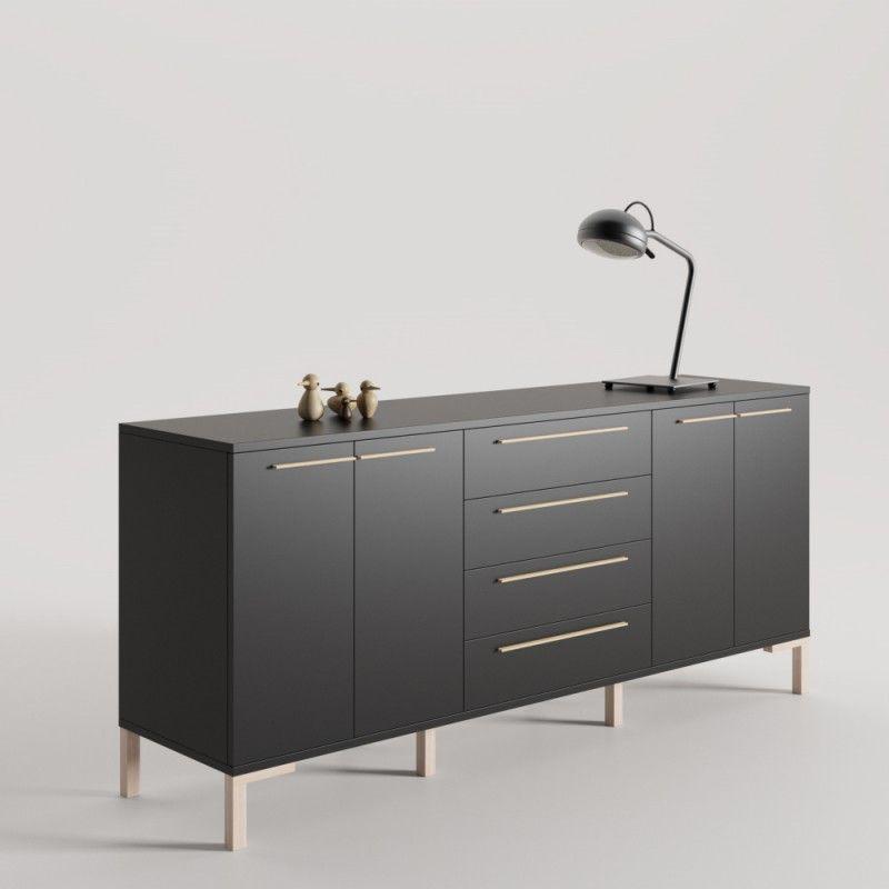 Cajonera kit Aparador salon mack4 con pata recta de 180 cm ancho