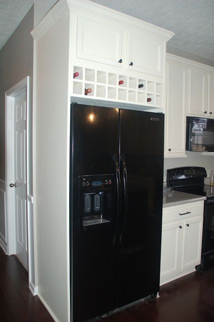 diy built in refrigerator build big cupboard space for serving rh pinterest com diy refrigerator cabinet door diy wine refrigerator cabinet