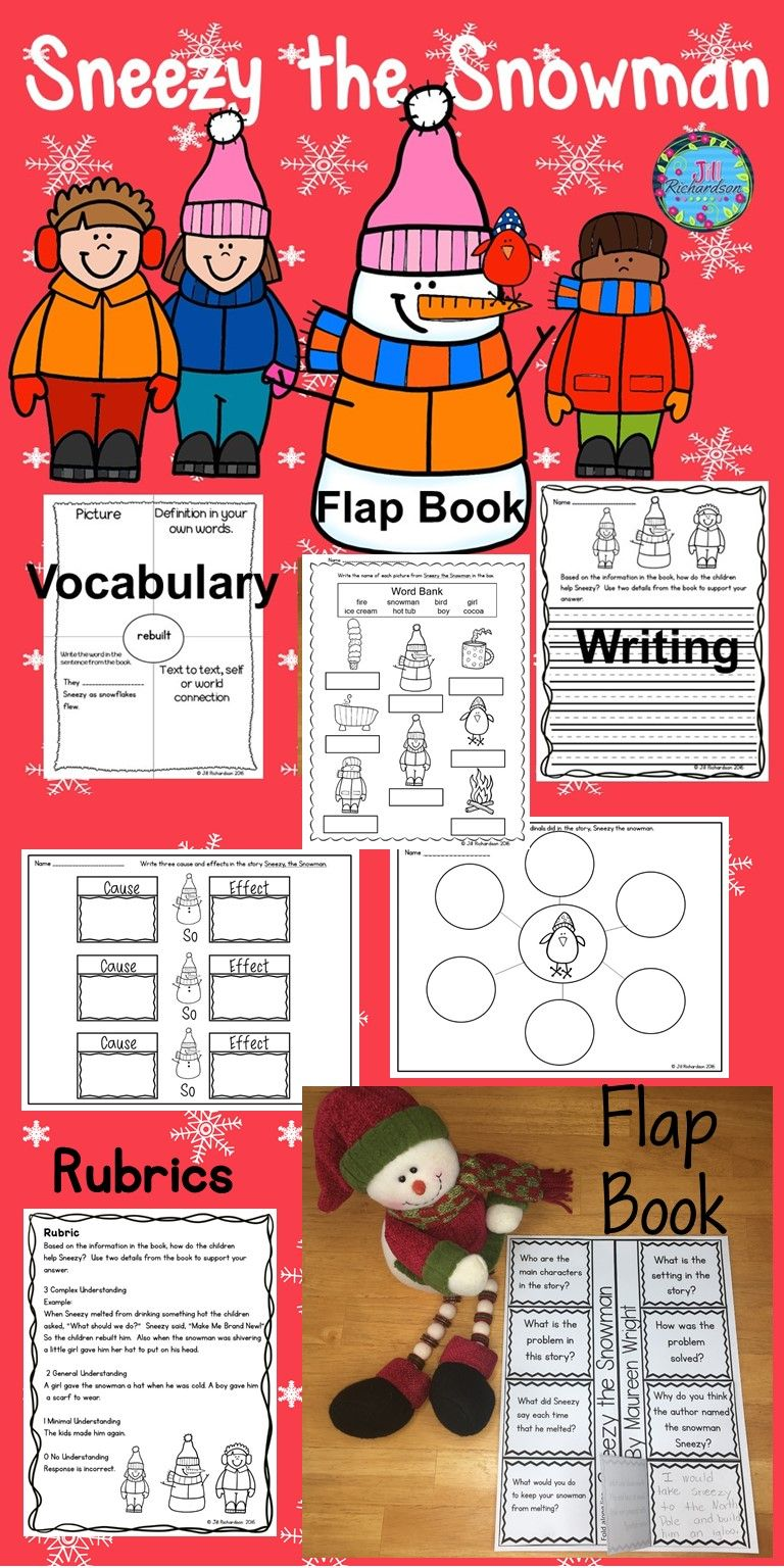 Sneezy The Snowman Is A Delightful Story And This Activity