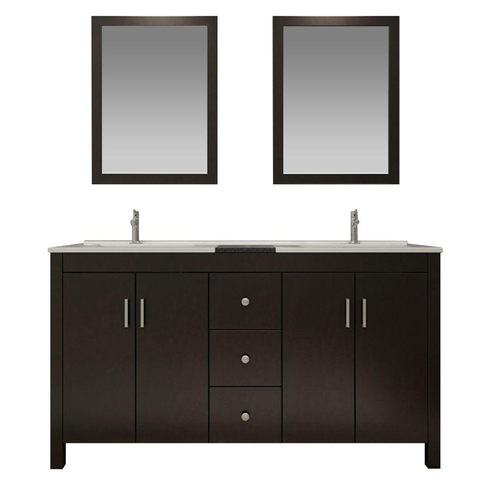 Ariel Hanson 73 In Bath Vanity In Espresso With Granite Vanity