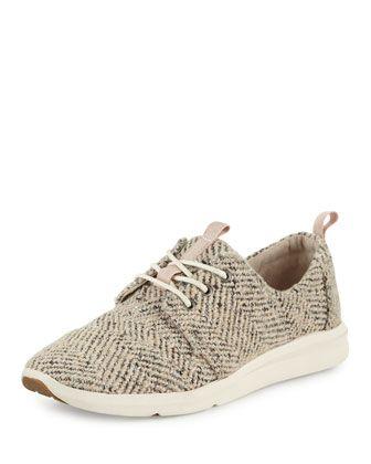 TOMS Del Rey Boucle Sneaker, Dusty Rose