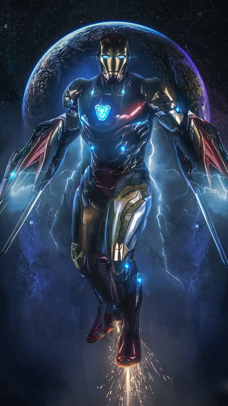 Iron Man In Space Avengers Endgame Iphone Wallpaper Iron Man Photos Iron Man Avengers Iron Man Art