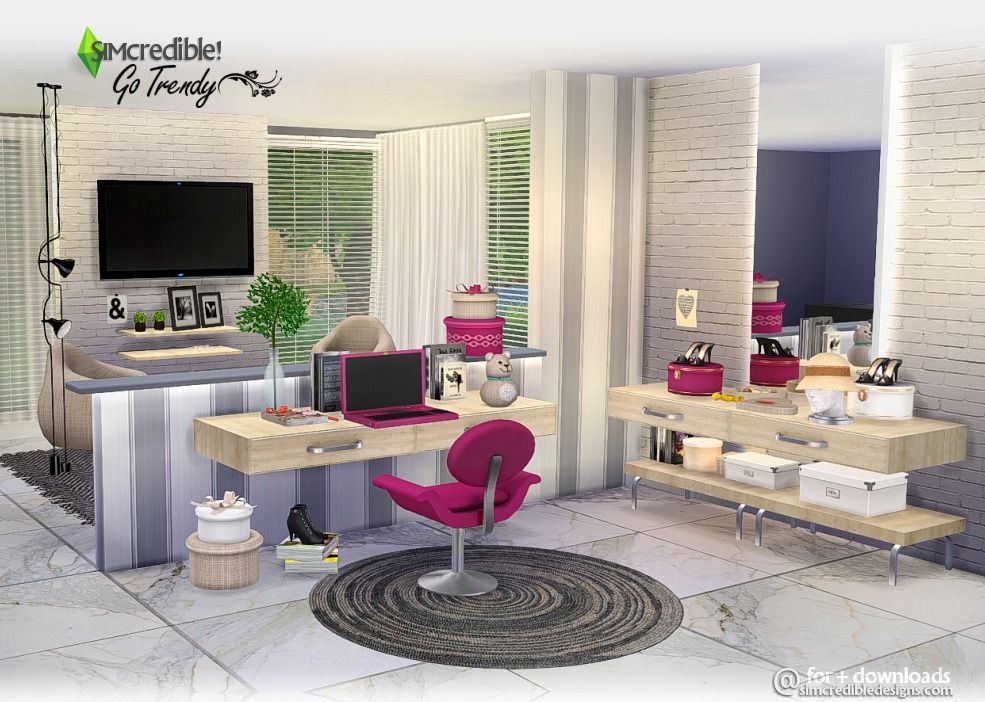 Lana CC Finds - Sims 4. Go Trendy Add-ons by SIMcredible ...