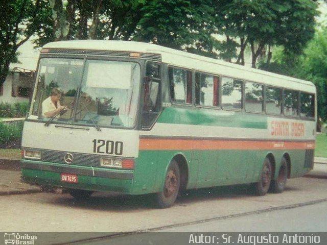 Ônibus Da Empresa Santa Rosa, Carro 1200, Carroceria Mercedes Benz  Monobloco O