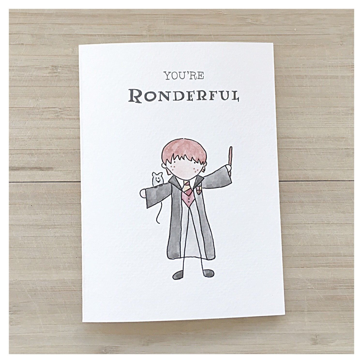 Ron Weasley Greeting Card Harry Potter