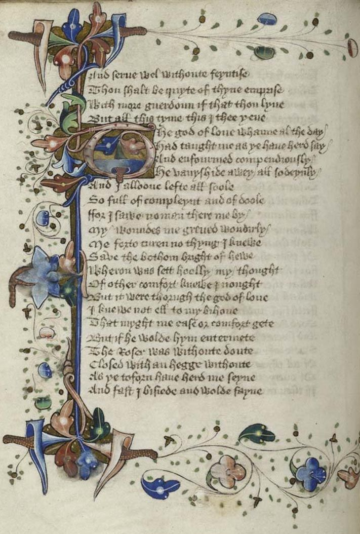 Chaucer Romaunt of the Rose England ~1440
