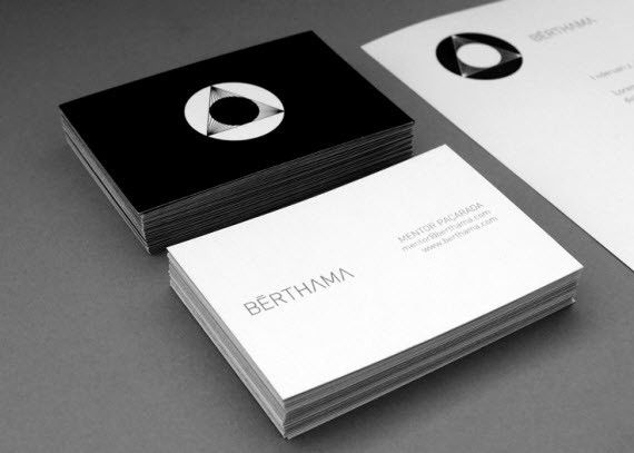 BrthamaMinimalBusinessCards  Graphic Design Delights