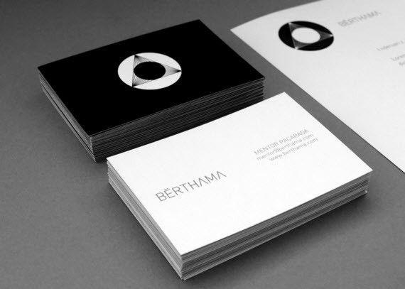 BrthamaMinimalBusinessCards  Graphic Design Delights