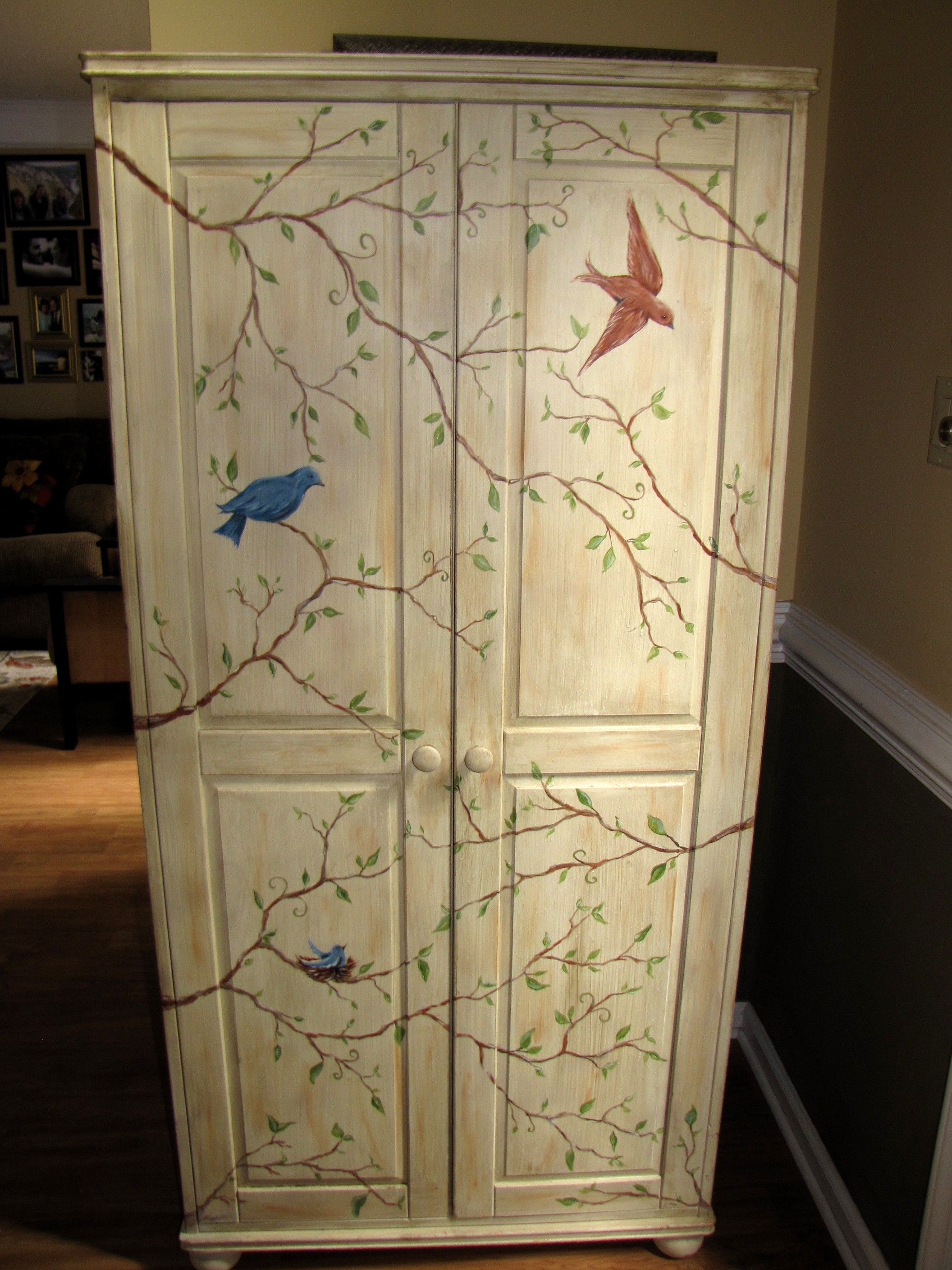 Armoire - Birds and Branches $190 - Charlotte http://furnishly.com ...