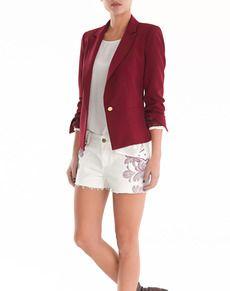 El Chaquetas Blazer Mujer Easy Y De Blazers Corte Wear IIT0av