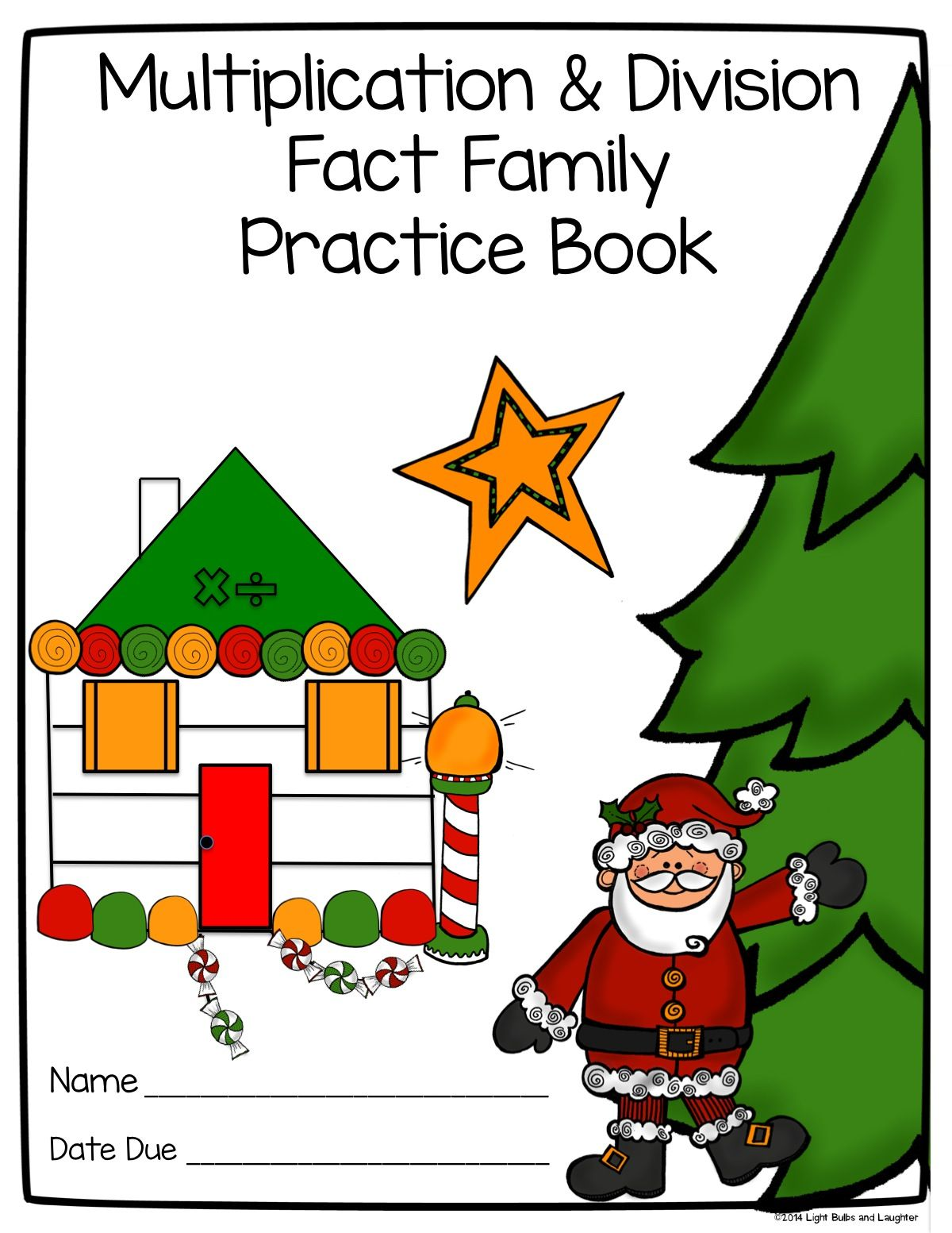 Multiplication and Division Fact Family Practice Book Cover ...