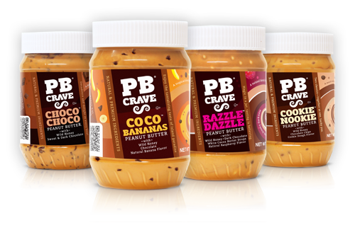 Taste our new obsession: PB Crave's flavored peanut butters at the One of a Kind Show. Razzle Dazzle, CoCo Banana, Cookie Nookie and Choco Choco. Yum!