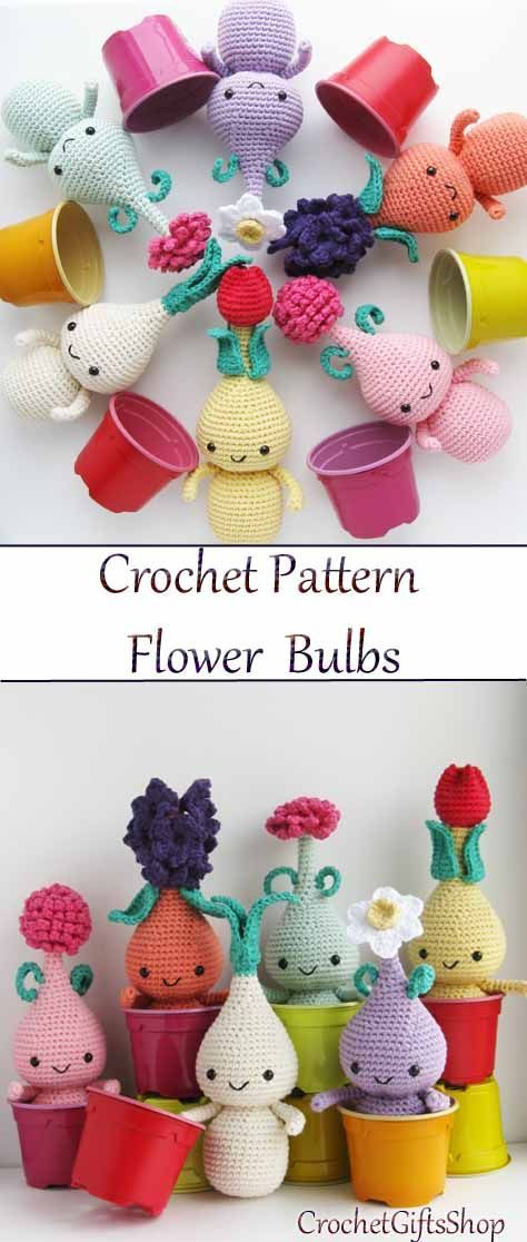 This is a pattern for crocheting toys amigurumi flower bulb doll. T ...
