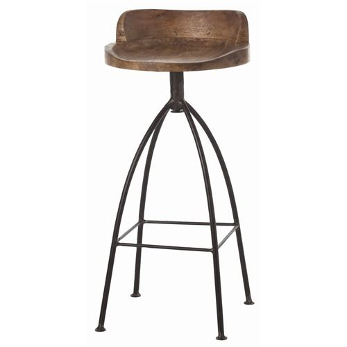 Hinkley Wood Iron Swivel Barstool Arteriors Industrial Stool Rustic Bar Stools Wood Bar Stools Industrial Style Furniture