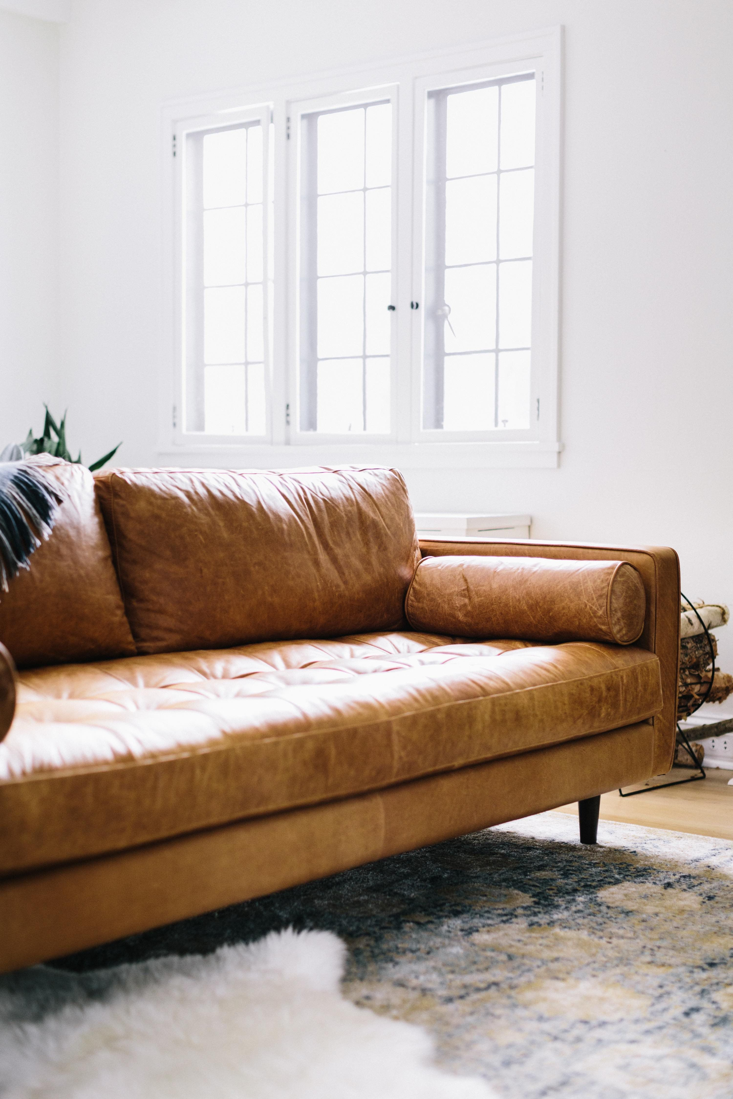 tan leather sofa decor sofas com chaise baratos couch goals objects pinterest living room and