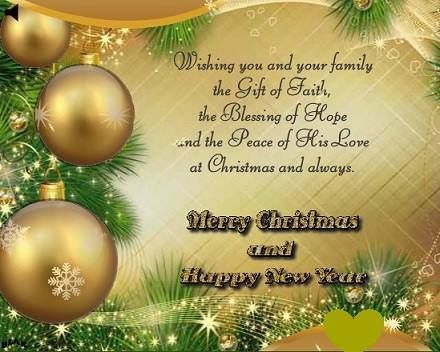 Merry Christmas And Happy New Year To My Facebook Family And