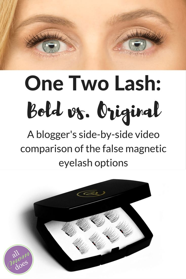 08e21b80e86 A review of false magnetic eyelashes One Two Lash. A comparison of bold vs.  original.