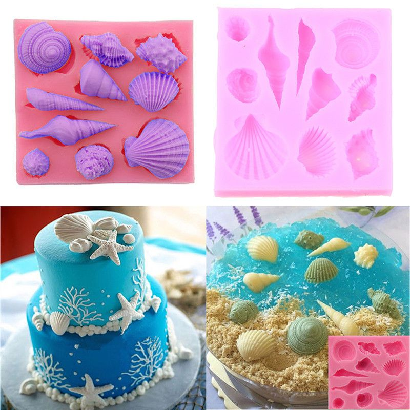 Sugarcraft Pastry Making Baking Mould Cake Decorating Tools Ocean Silicone Mold