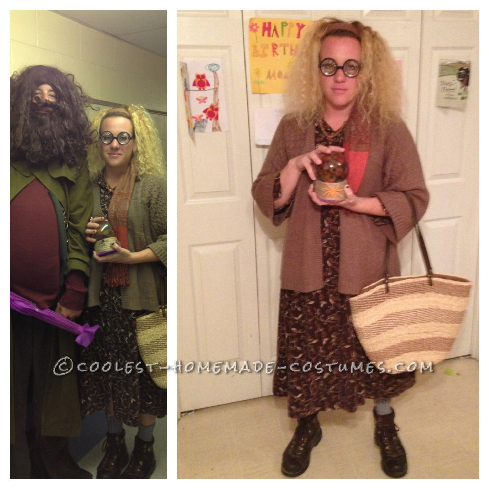 Coolest Homemade Sybill Trelawney Costume From Harry Potter Harry Potter Costume Homemade Costumes Harry Potter Theme Party