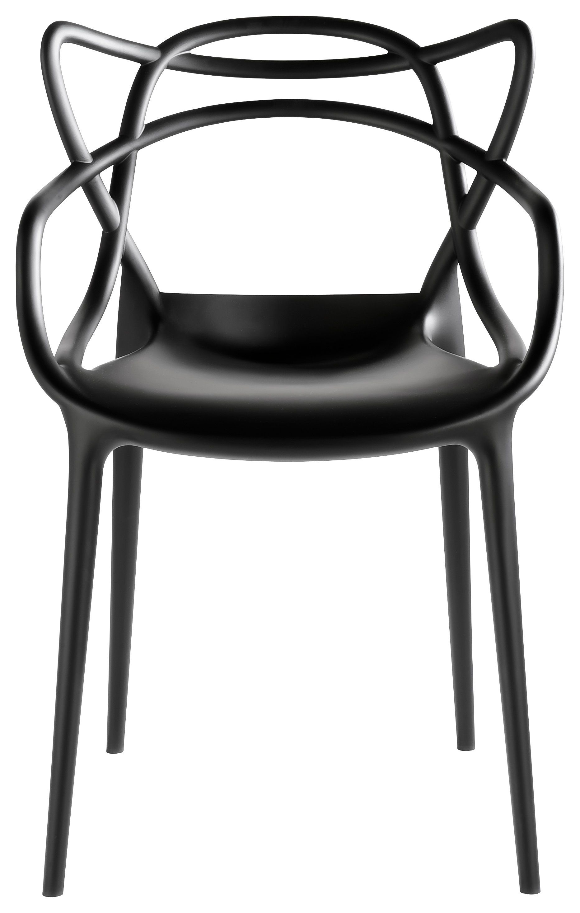Kartell Masters Stackable Armchair Black Made In Design Uk Chaise Masters Chaise Design Kartell