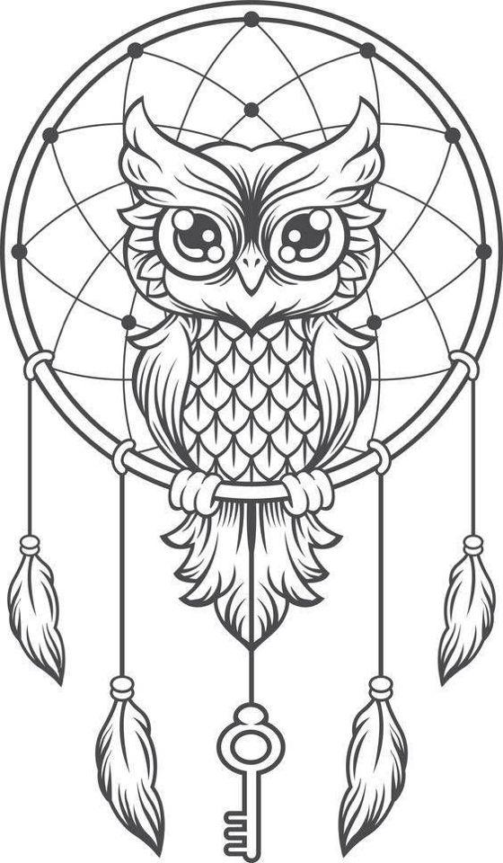 Pingl par tyukodi paula sur 2 pinterest dessin - Hibou dessin facile ...
