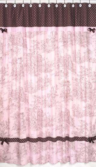 Pink Toile Girls Bedding-Polka Dot Bedding by Sweet Jojo Designs ...