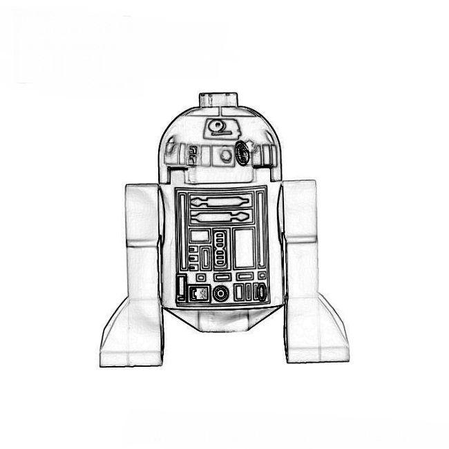 Lego R2d2 Coloring Pages Dengan Gambar