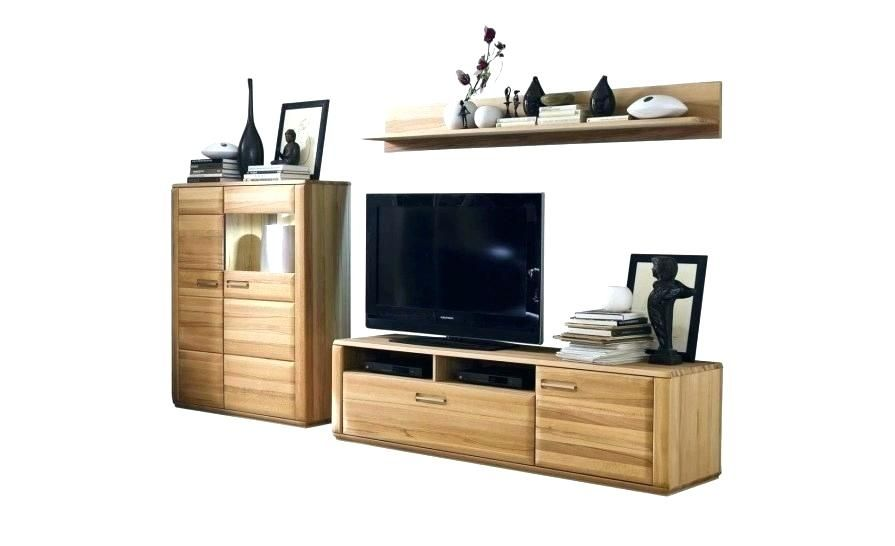 Wohnwand Eiche Massiv Modern In 2020 Wood Colors Gamer Room Living Wall