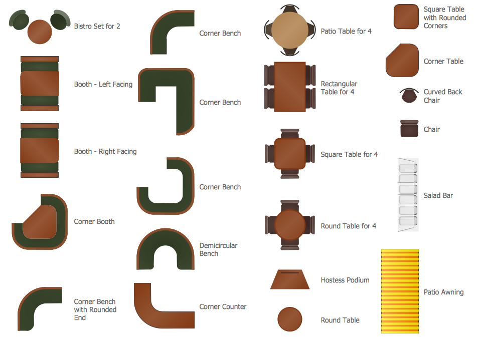 Furniture Design Elements design elements - cafe and restaurant floor plan and furniture