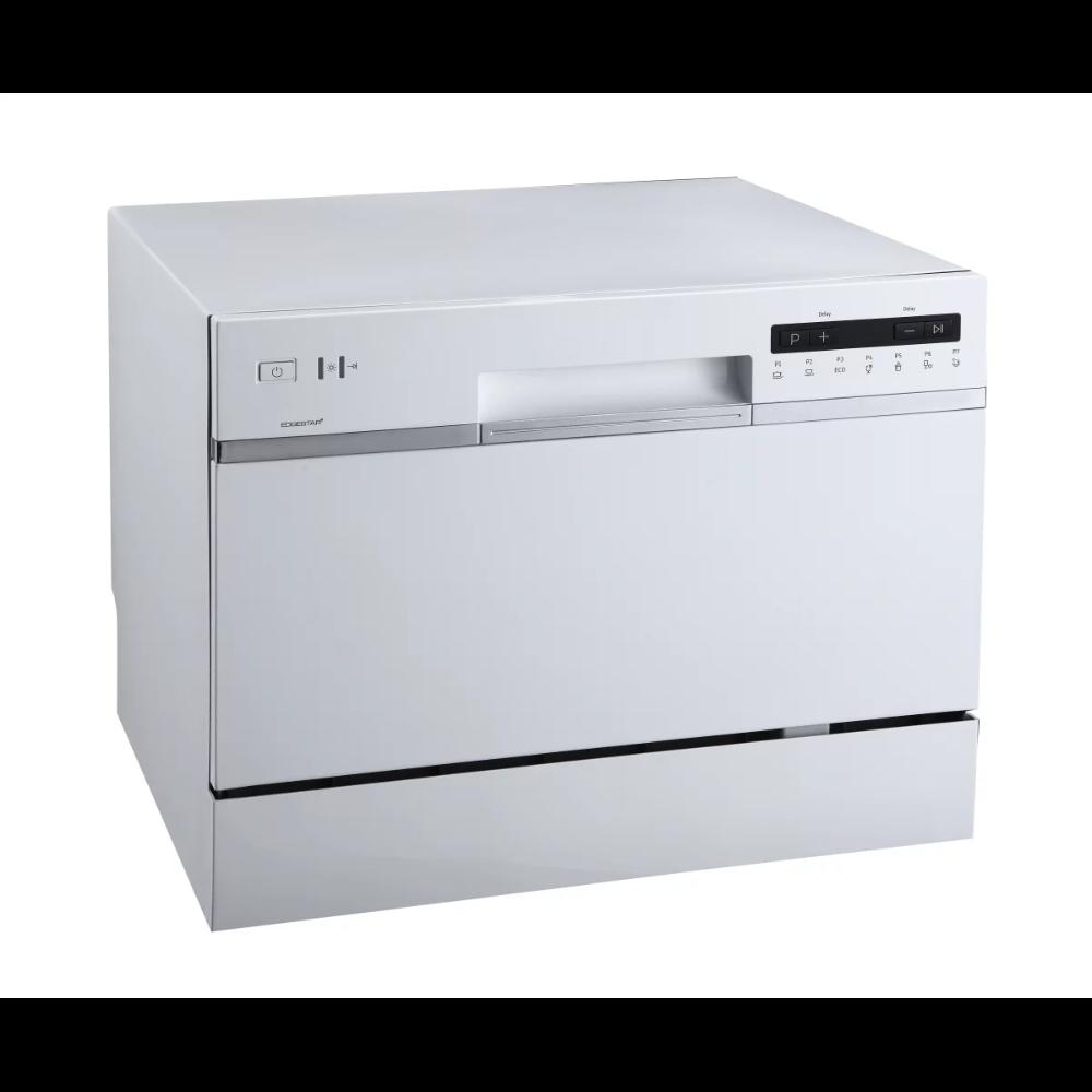 Edgestar Dwp62bl Black 22 Inch Wide 6 Place Setting Energy Star Rated Countertop Dishwasher Compactappliance Com Countertop Dishwasher Portable Dishwasher Dishwasher White