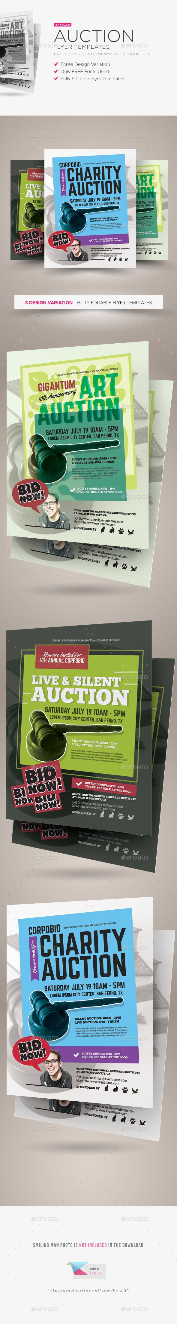 auction flyer templates charity fundraiser all pay click here