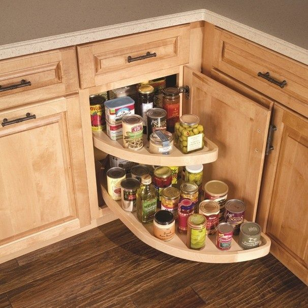 with this lazy susan cabinet upgrade you turn each shelf 90 degrees and pull it forward on kitchen organization lazy susan cabinet id=78475