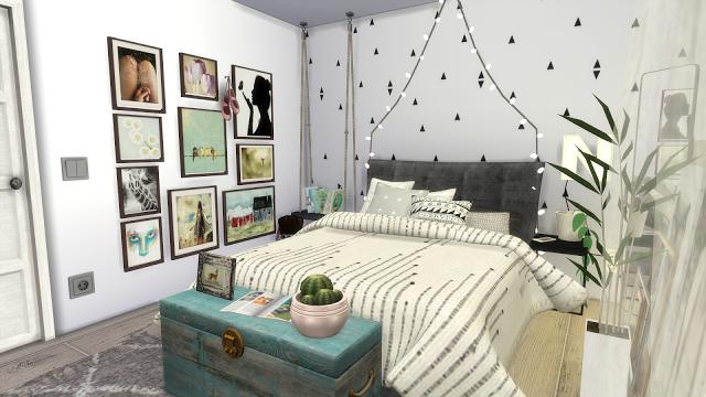 SIMS 4 KAWAII BEDROOM Room build + Custom Content List