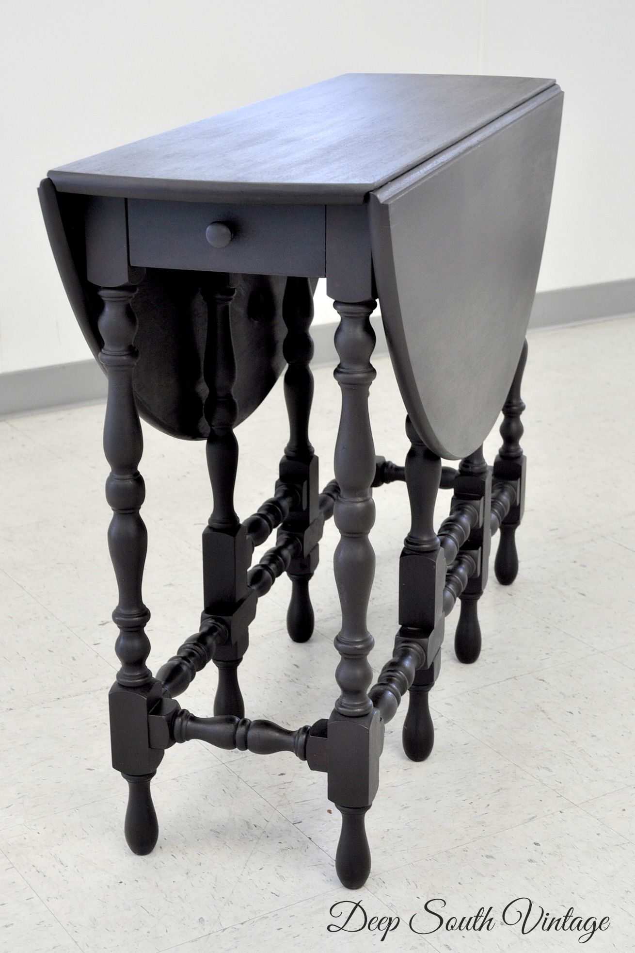 Rare William And Mary Gate Leg Drop Leaf Table Re Finished By