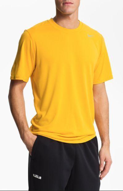 8aae76ac65b0f New Men's Nike Legend Dri-FIT Short Sleeve Training T-Shirt University Gold  Sz M #Nike #ShirtsTops #university #college #universitygold #Gold #drifit