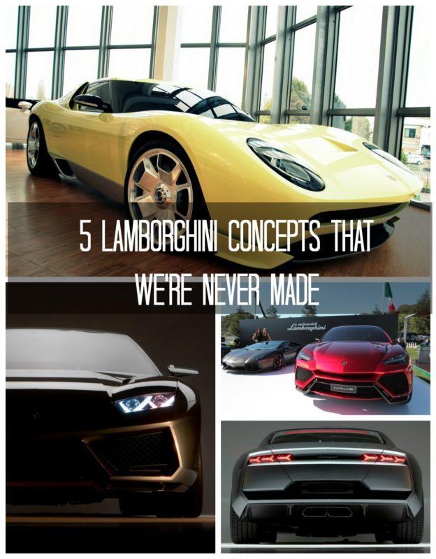 5 Lamborghini Concepts That We\'re Never Made | Lamborghini concept ...