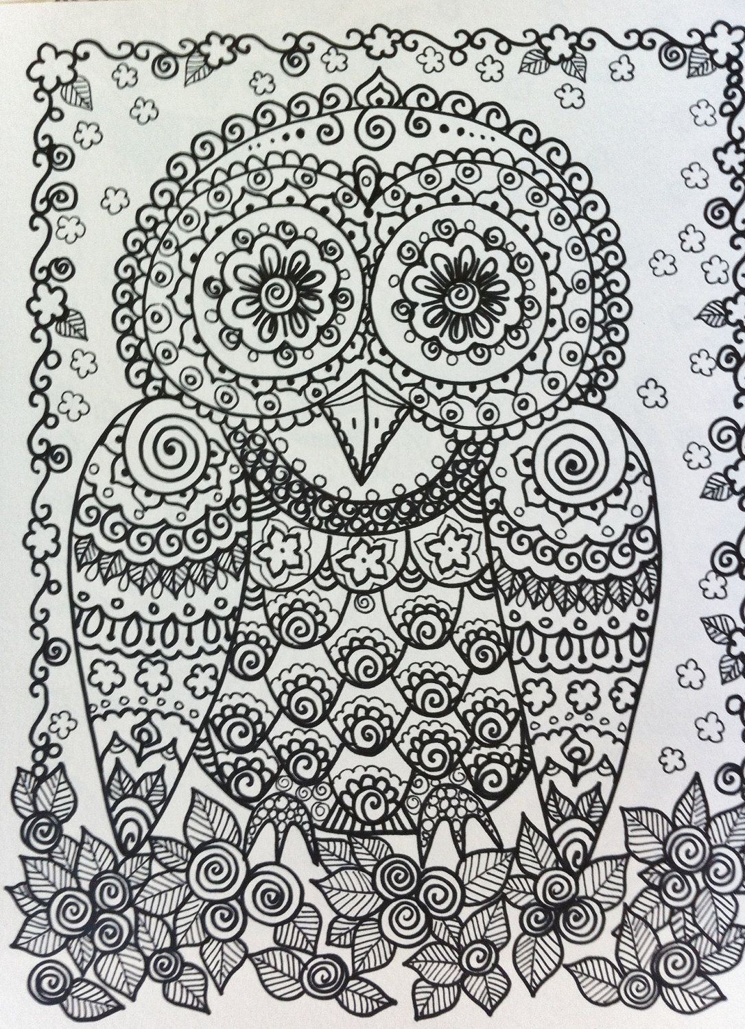 ☯☮ Color It Yourself! ☮ owl | Drawing & Water colors | Pinterest ...
